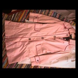 Coach Vintage light pink raincoat!